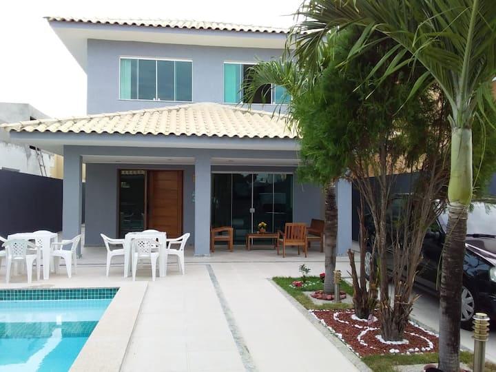 Casa Nova Duplex com Piscina e Moveis Novos .