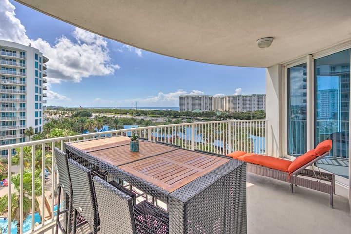 NEW! Gulf-View Condo w/ Resort Pool, ½ Mi to Beach