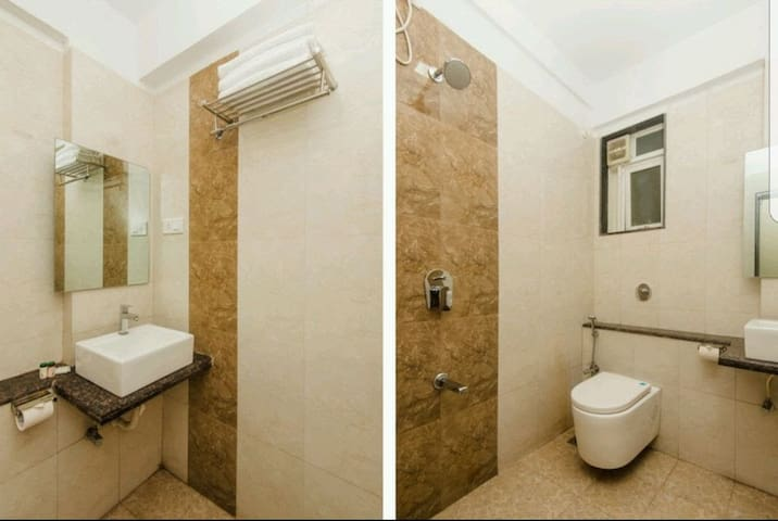 Shared washroom in apartment