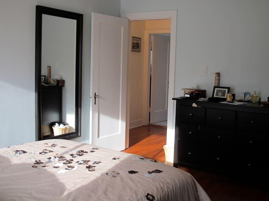 Bedroom looking toward hall
