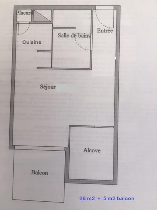 Plan de distribution des espaces.