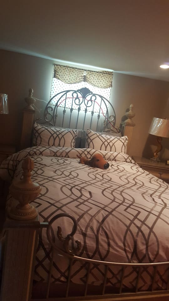 soft, comfortable bedroom to make your stay,  a home away from home.