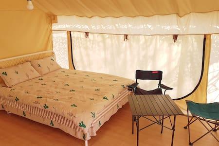 CAMPO崇明岛特色帐篷营地北欧人字帐篷家庭房A