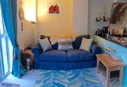 En-suite room in lovely garden apartment nr beach - Sandown - 아파트