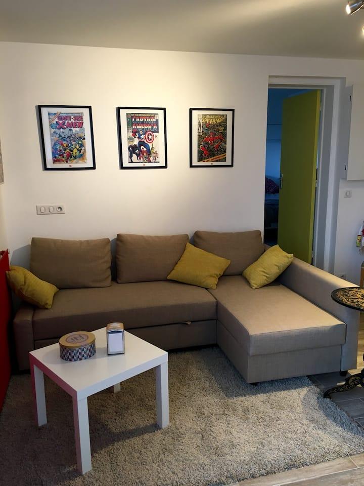 Appartement indépendant + salon,chambre,terrasse