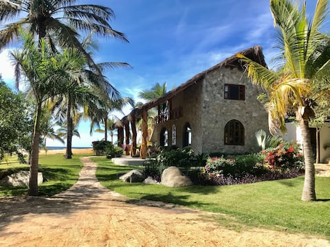 Secluded beach front paradise home