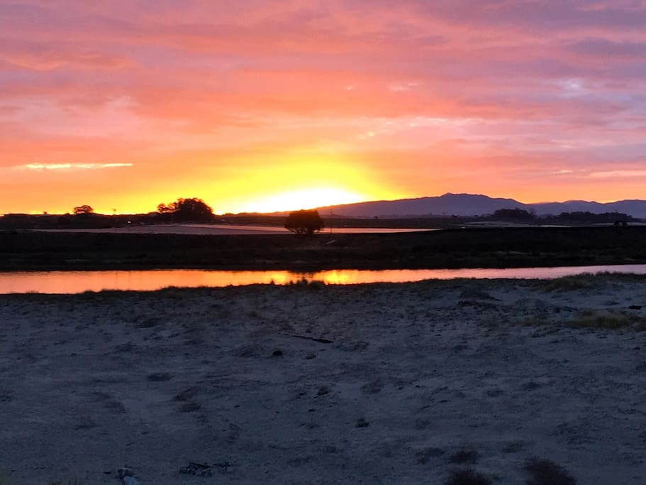 Check out the sunrise from the deck while enjoying a cup of coffee or tea