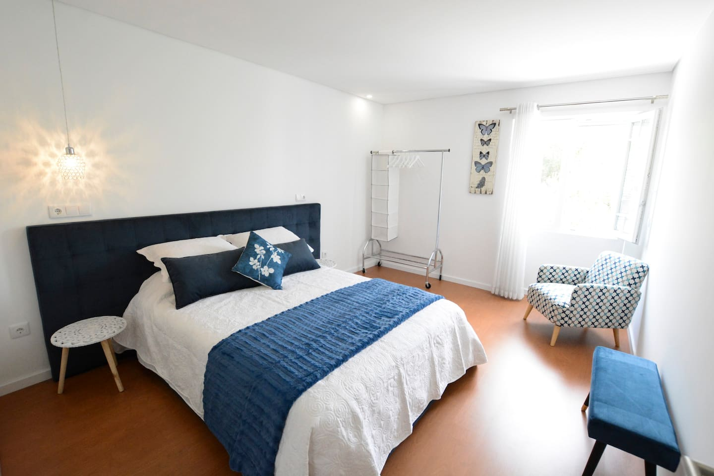 Room 1 - Double bed with private WC and river view