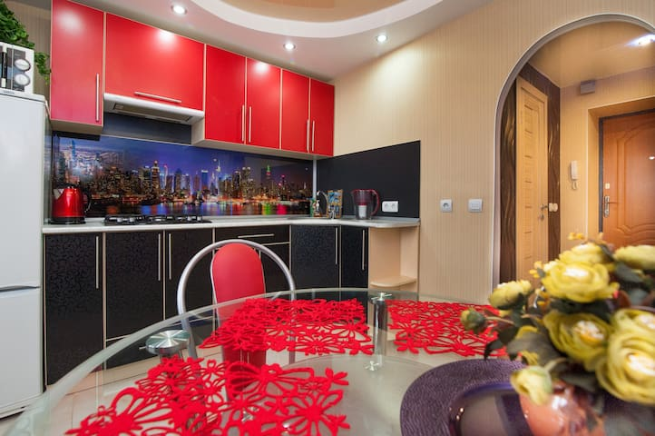 1-ком. апартаменты DeLux центре г.Волжского - Volzhskiy - Apartment