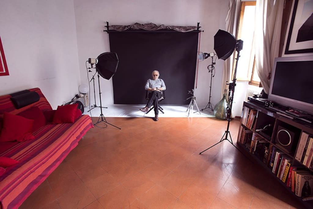 My Living Room during my work, shooting movie or photography.