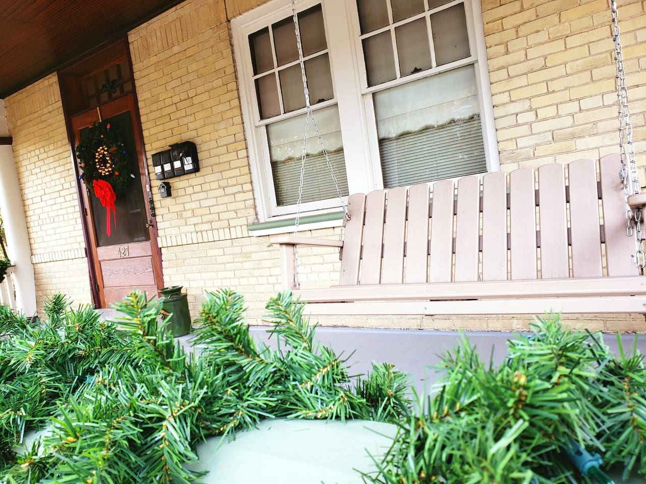 Spacious front porch on which to relax