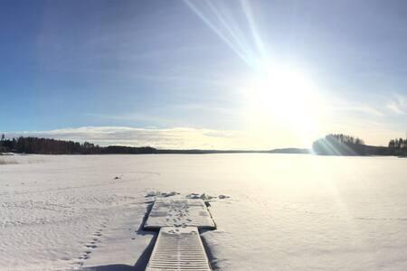 Villa Malfatto Winter lake house - Jyväskylä - Kulübe