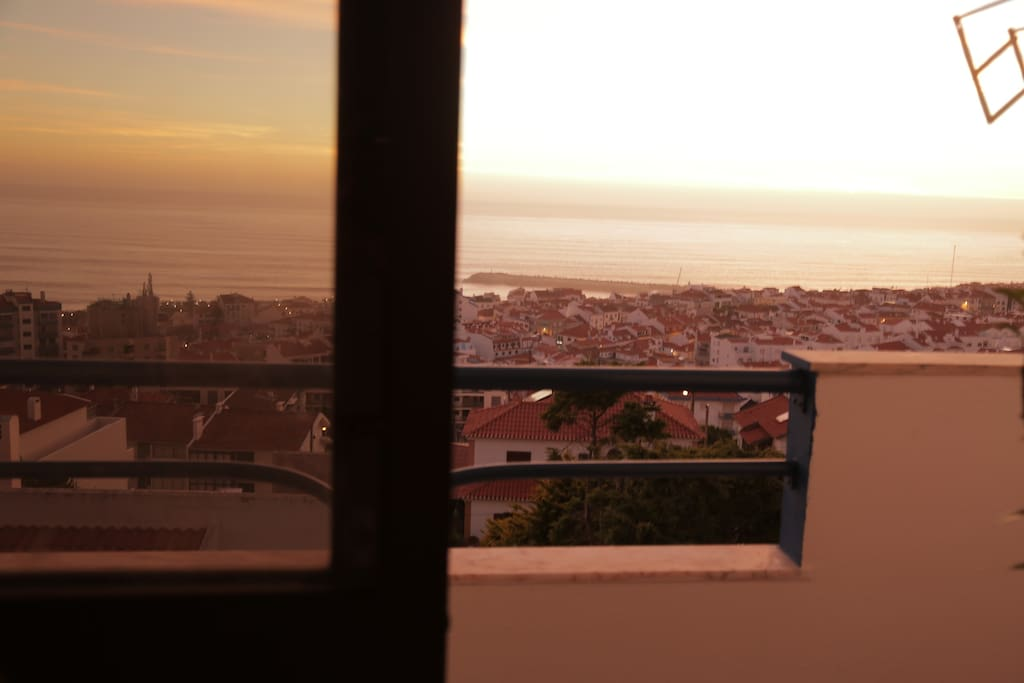 Great balcony with a wonderful view over the sea and Ericeira city center