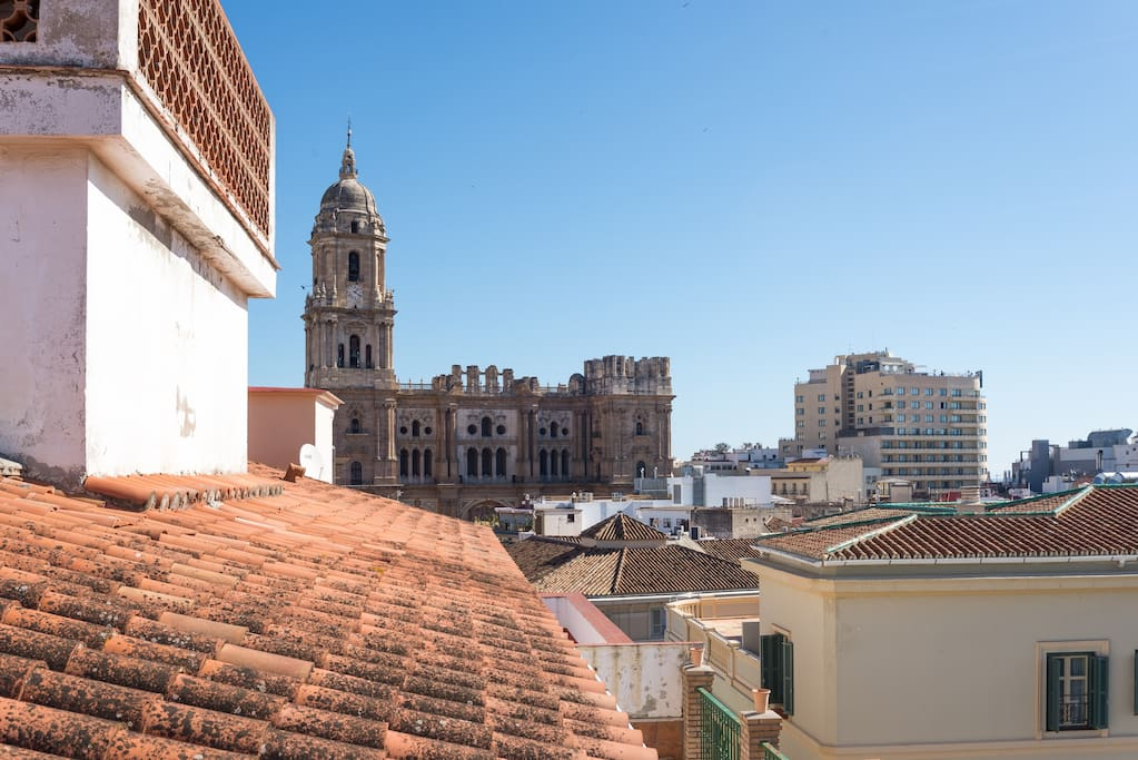 Direct Views to the Cathedral and Malaga Skyline