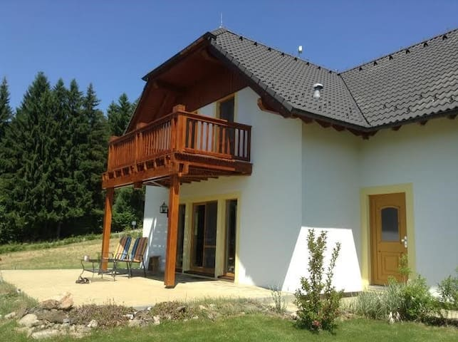 Luxe chalet/villa Lipno mit Sauna - Lipno nad Vltavou - Hytte (i sveitsisk stil)