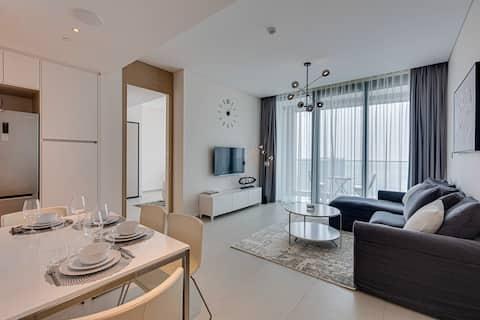 全新5星级豪华公寓,地址为JBR