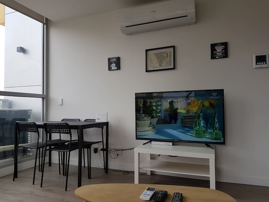 50 inch LCD TV with Foxtel - Sit back and put your feet up