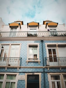 cozy room on tiles building with Tejo River view
