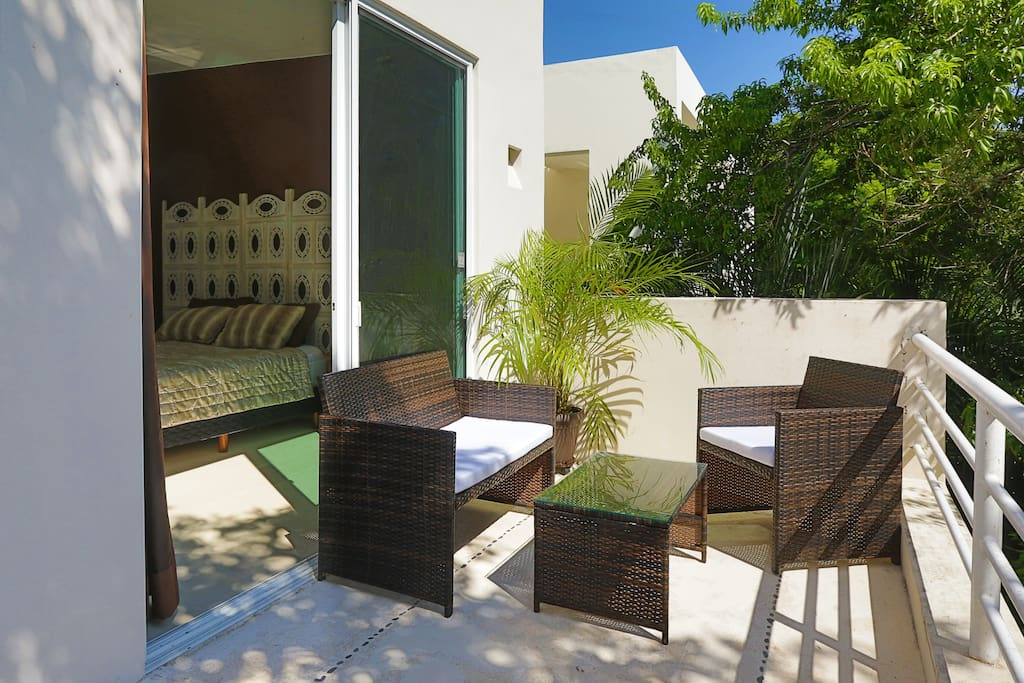 Furniture inside or out on the terrace you choose!