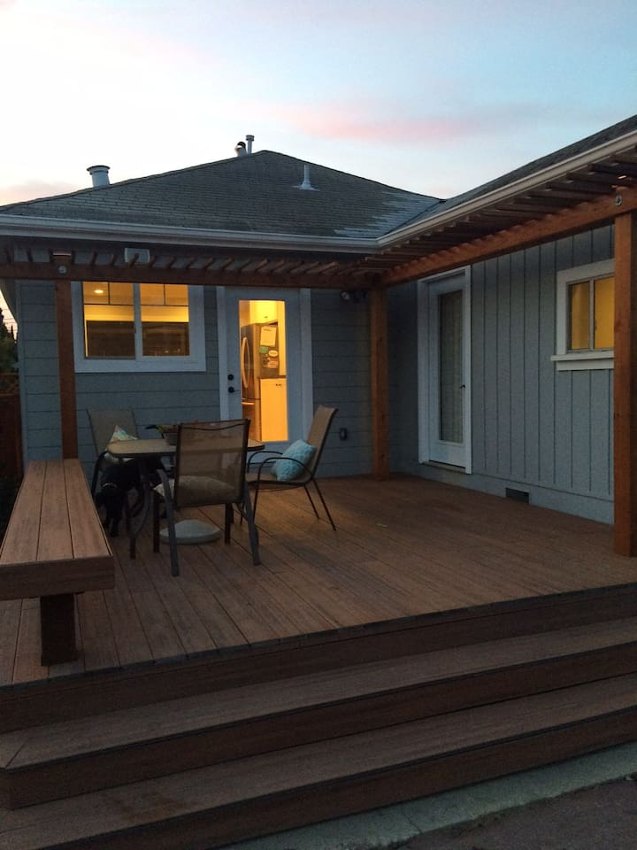 Large deck, great for meals or enjoying the sunset.