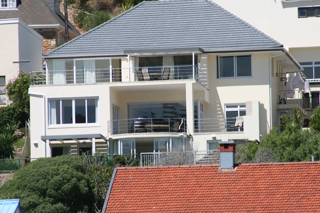 All 3 Flats have wonderful beach and views of False Bay