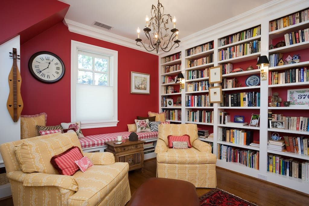library/sitting area outside bedroom