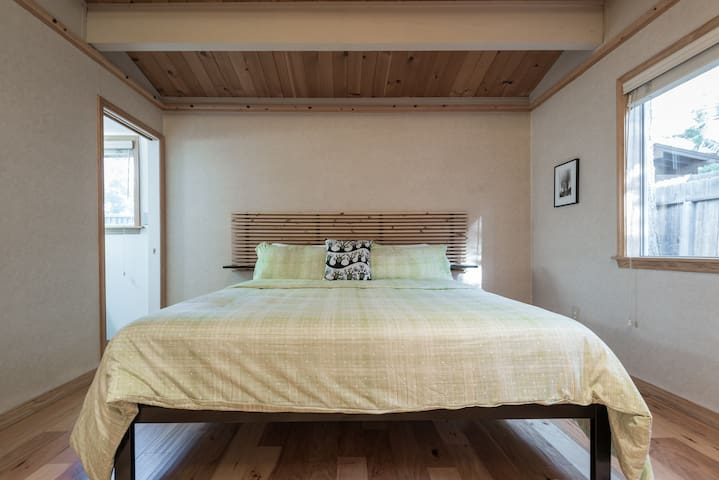 Upstairs master bedroom with cal king bed