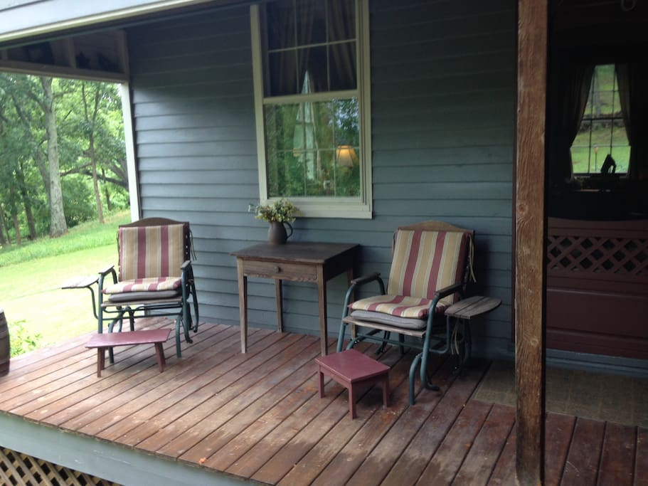your own private porch for coffee or happy hour