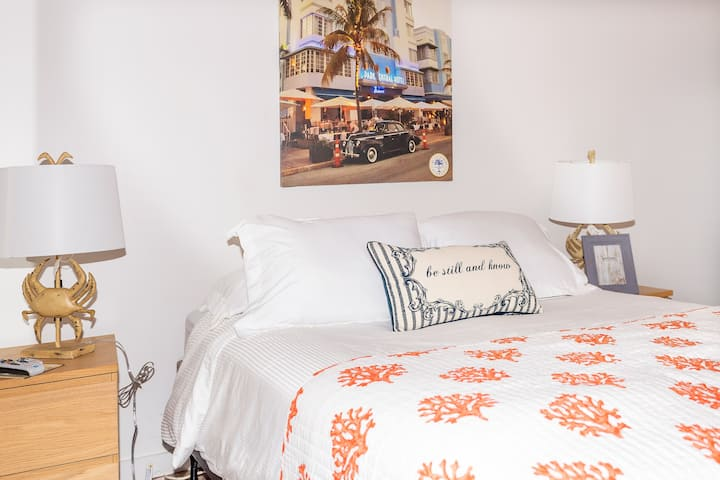 Queen bed room At Normans Miami Beach!