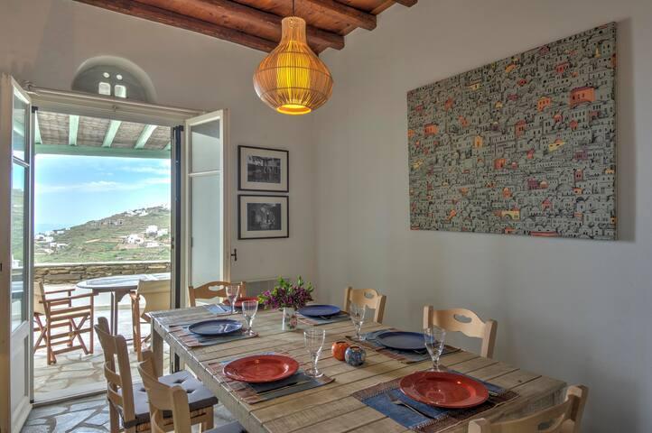 Holiday House in Tinos - Stunning Aegean Sea views