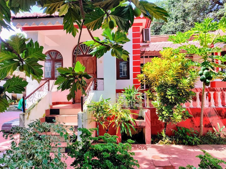 1 BHK Portuguese Style Guesthouse 2km from city.
