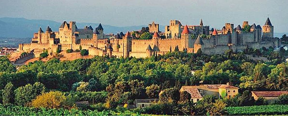 Big house. View on Castle - Carcassonne - Dom