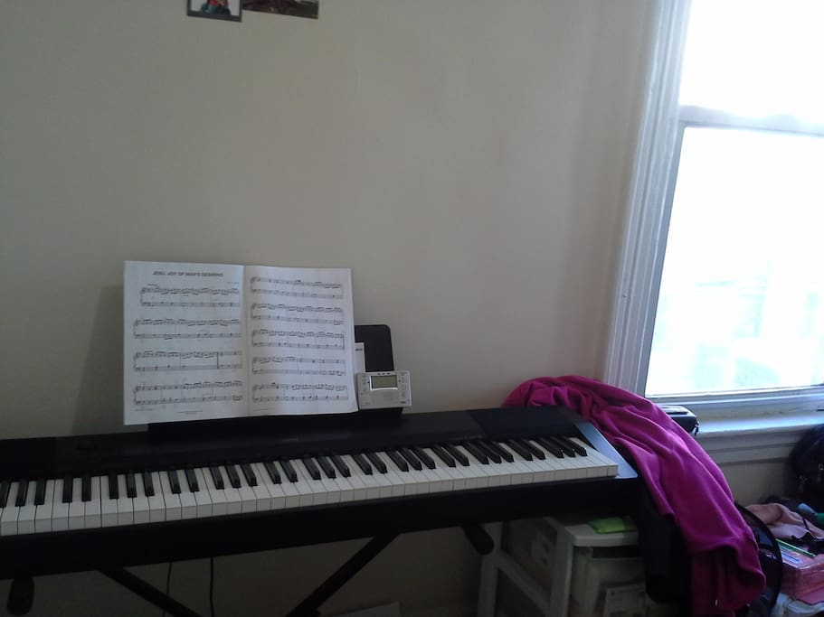 Keyboard in my room for musicians like myself
