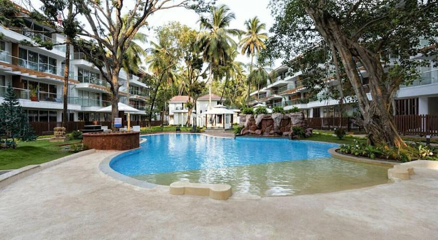 1BHK POOL VIEW , CALANGUTE C3 - Calangute - Serviced apartment