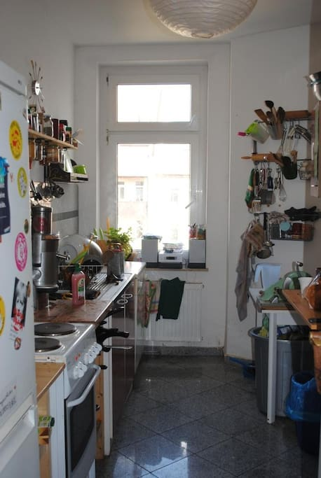 Kitchen, small but with lots of (special) kitchen ware :)