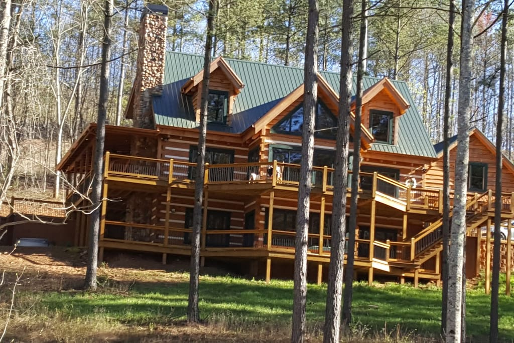 A real log cabin home