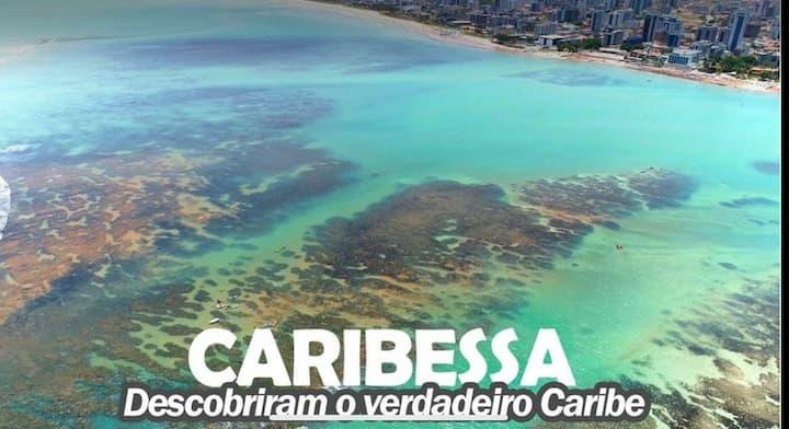 Flat a 350m do Caribessa, a praia + Bela de Jampa!
