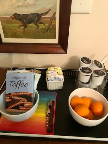 Coffee and breakfast snacks provided