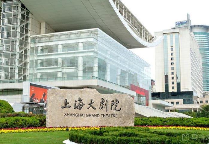 人民广场精装房一套近外滩/南京西路/上海大剧院/上海博物馆/凯迪拉克上海音乐厅/上海K11艺术中心等