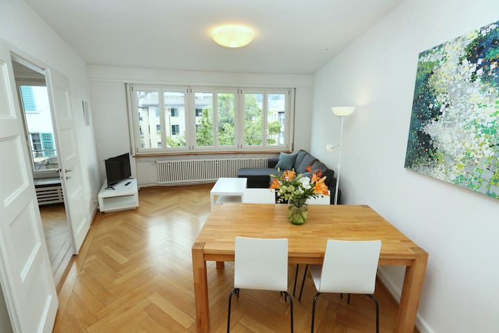 City Center / University - 3.5 rooms, 2 BR, 90 sqm