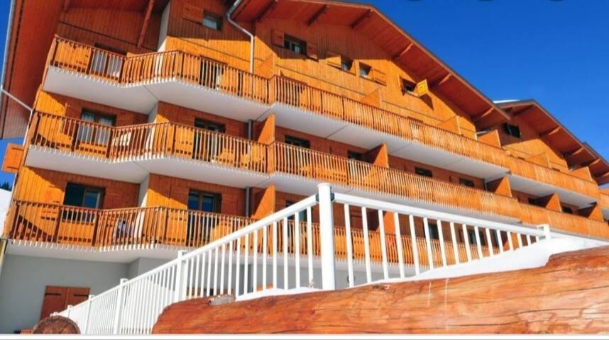 Appartement 4-6 pers de 35m² au pied des pistes
