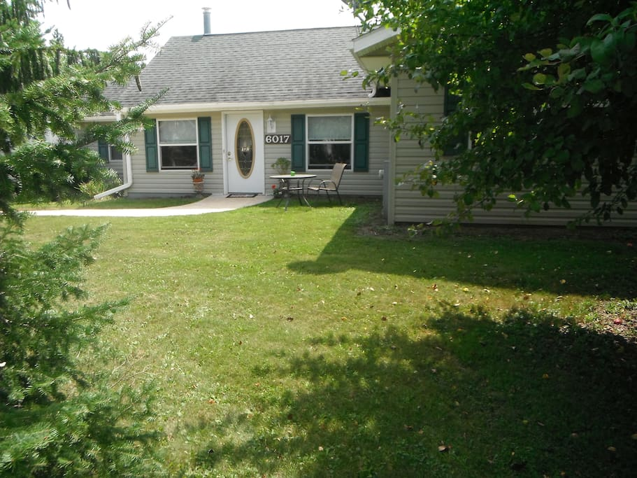 Front Private entrance & Lawn