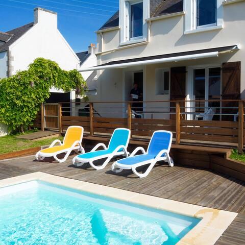Concarneau  maison proche mer piscine chauffée