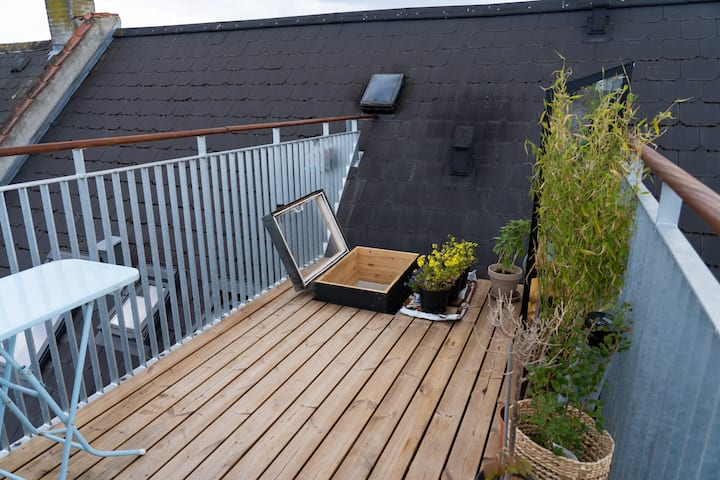 Cozy rooftop apartment on Vesterbro