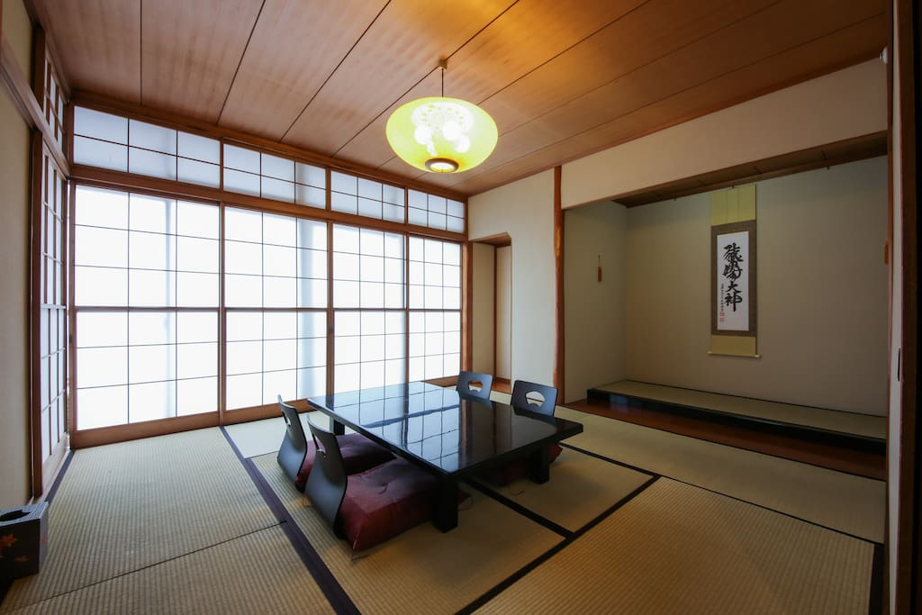Comfortable tatami room! Why do not you get chilled here?
