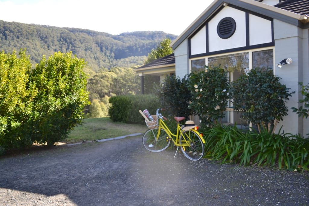 Cycle into the village for fresh bread