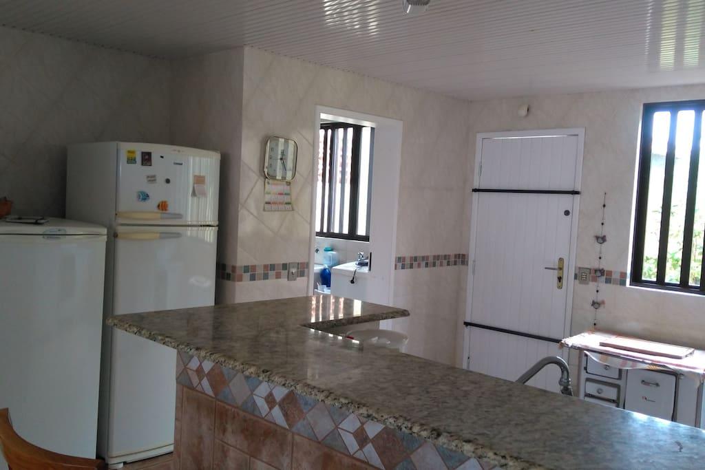 cozinha integrada sala + lavanderia