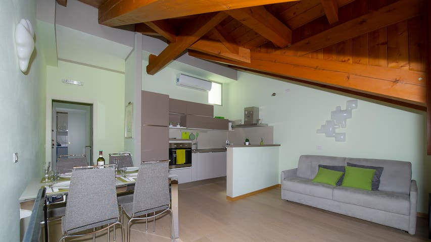 Il Cigno - Attic with terrace overlooking the lake