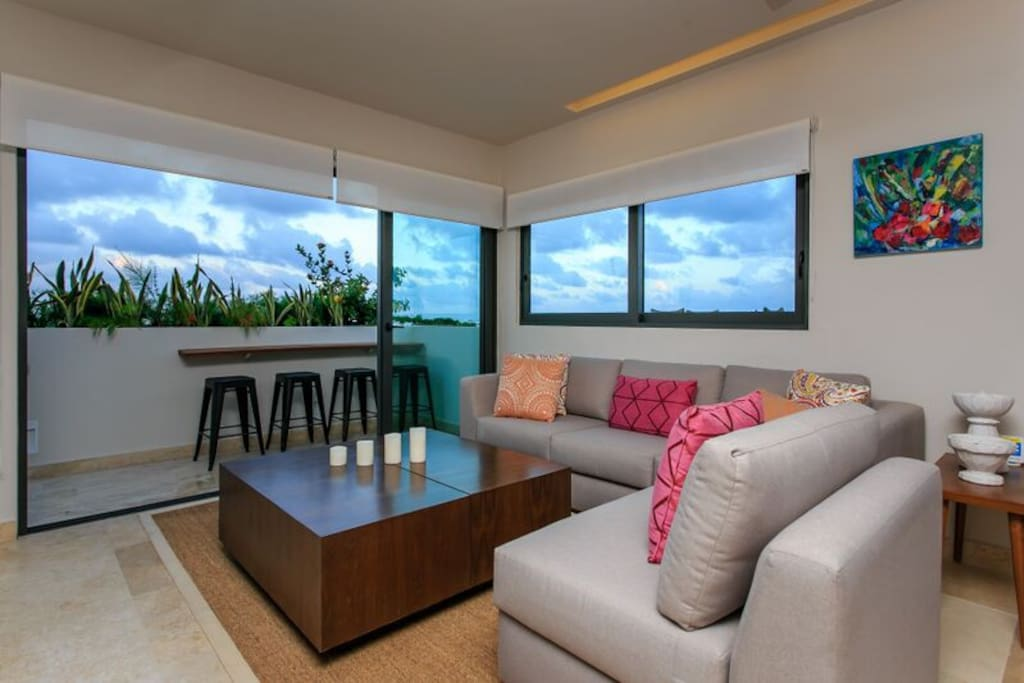 Living area - Access to private terrace