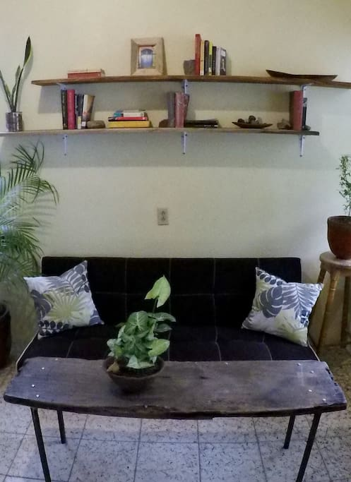 """""""The lounge room is really nicely fit out with a few books in the shelf, and simple furniture - perfect for planning San Juan adventures from."""" Nathan"""